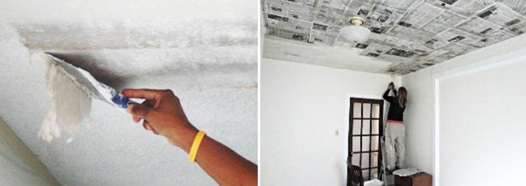 Красим потолок без разводов