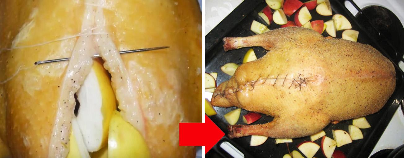 Утка с яблоками: готовим изысканное блюдо в духовке