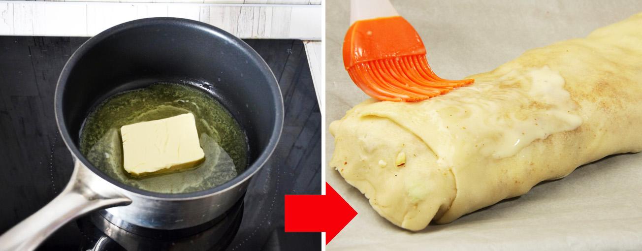 Рецепт яблочного штруделя из слоеного теста