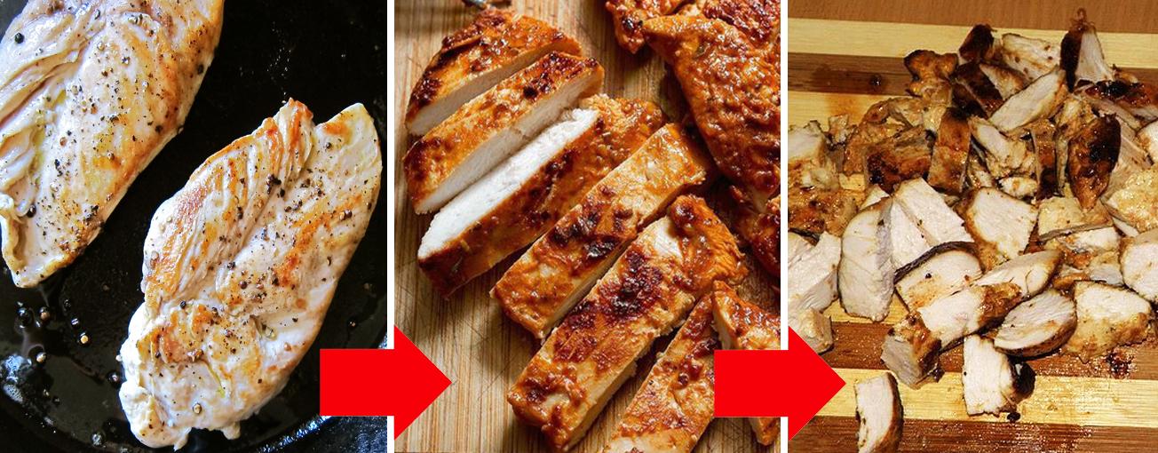 Классика «Цезаря»: быстрый и вкусный салат с курицей и сухариками